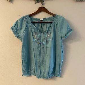 Sonoma - embroidered floral top